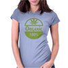 cannabis organic logo 100% Womens Fitted T-Shirt