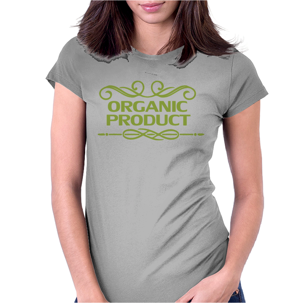 cannabis organic product emblem vintage Womens Fitted T-Shirt