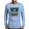 cannabis organic product logo green Mens Long Sleeve T-Shirt