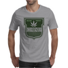 cannabis organic product logo green Mens T-Shirt