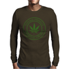 cannabis organic product logo stamp Mens Long Sleeve T-Shirt