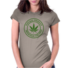cannabis organic product logo stamp Womens Fitted T-Shirt