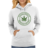 cannabis organic product logo stamp Womens Hoodie
