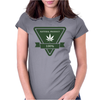 cannabis organic product logo tringle Womens Fitted T-Shirt