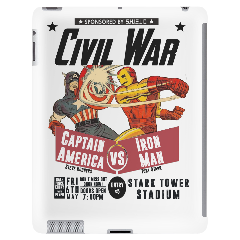 Cap VS Iron Man Tablet (vertical)