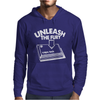 Caps Lock Unleash The Fury Mens Hoodie