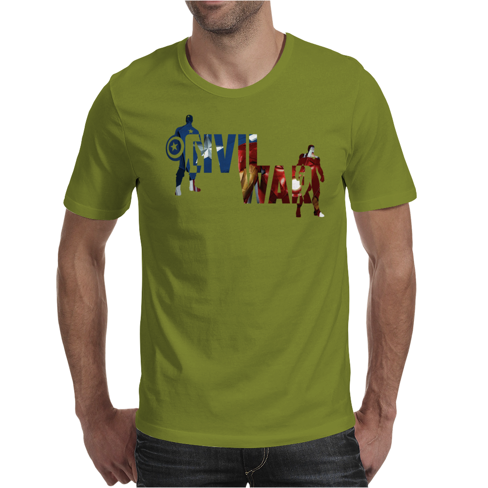 Captain America - Civil War - Colored Mens T-Shirt