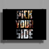 Captain America Civil War Pick Your Side Poster Print (Landscape)