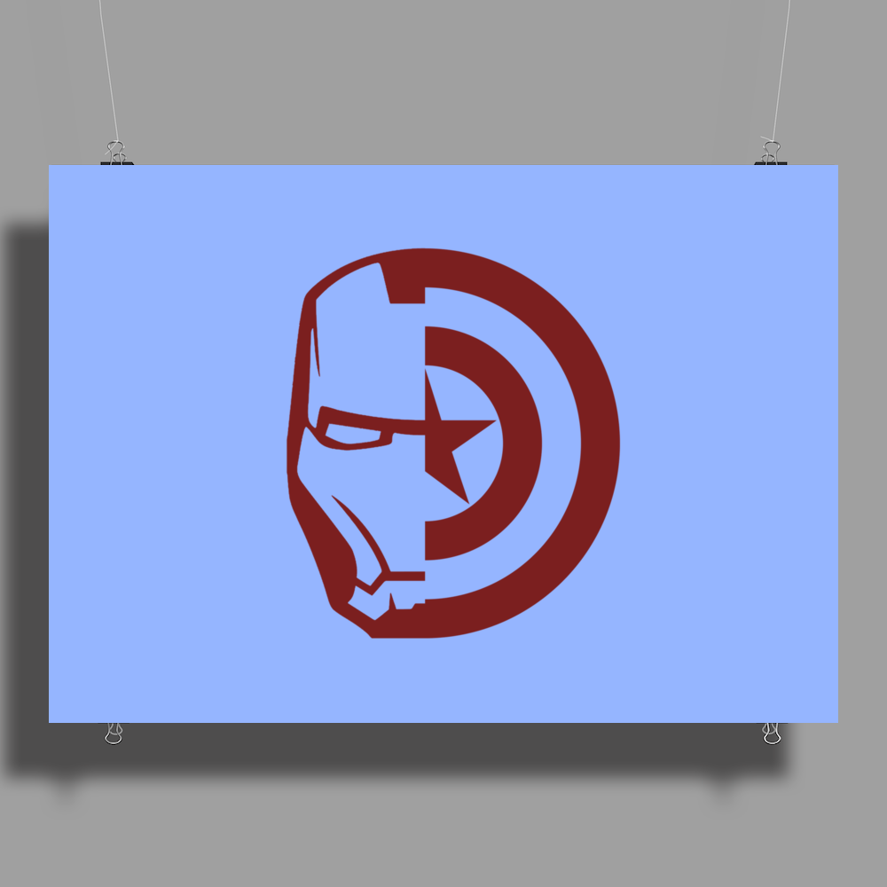 Captain America Civil war Poster Print (Landscape)