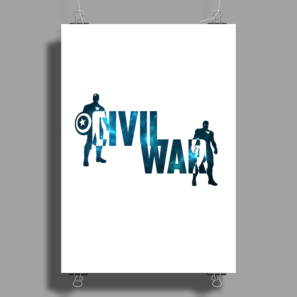 Captain America - Civil War - Space Poster Print (Portrait)