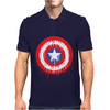 Captain America Dying Bleeding Logo Mens Polo