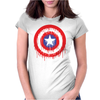 Captain America Dying Bleeding Logo Womens Fitted T-Shirt