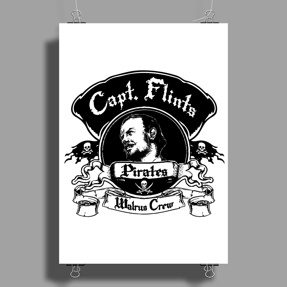 Captain Flints Pirate Crew Poster Print (Portrait)