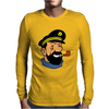 Captain Haddock Tintin Cartoon Comic Mens Long Sleeve T-Shirt