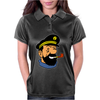 Captain Haddock Tintin Cartoon Comic Womens Polo