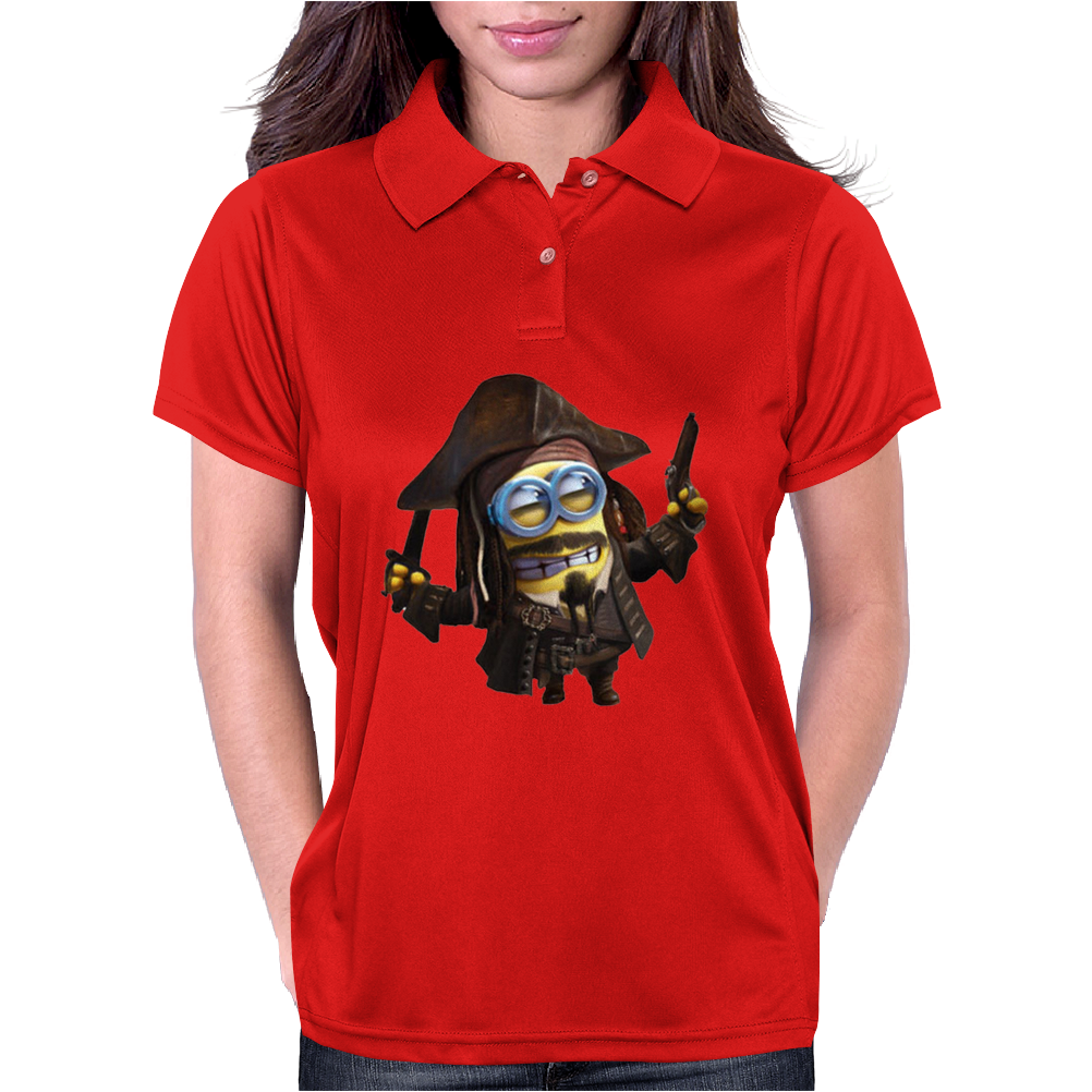 Captain Jack Sparrow Mens Funny T-Shirt Minion Pirates Of The Caribbean Minions Womens Polo