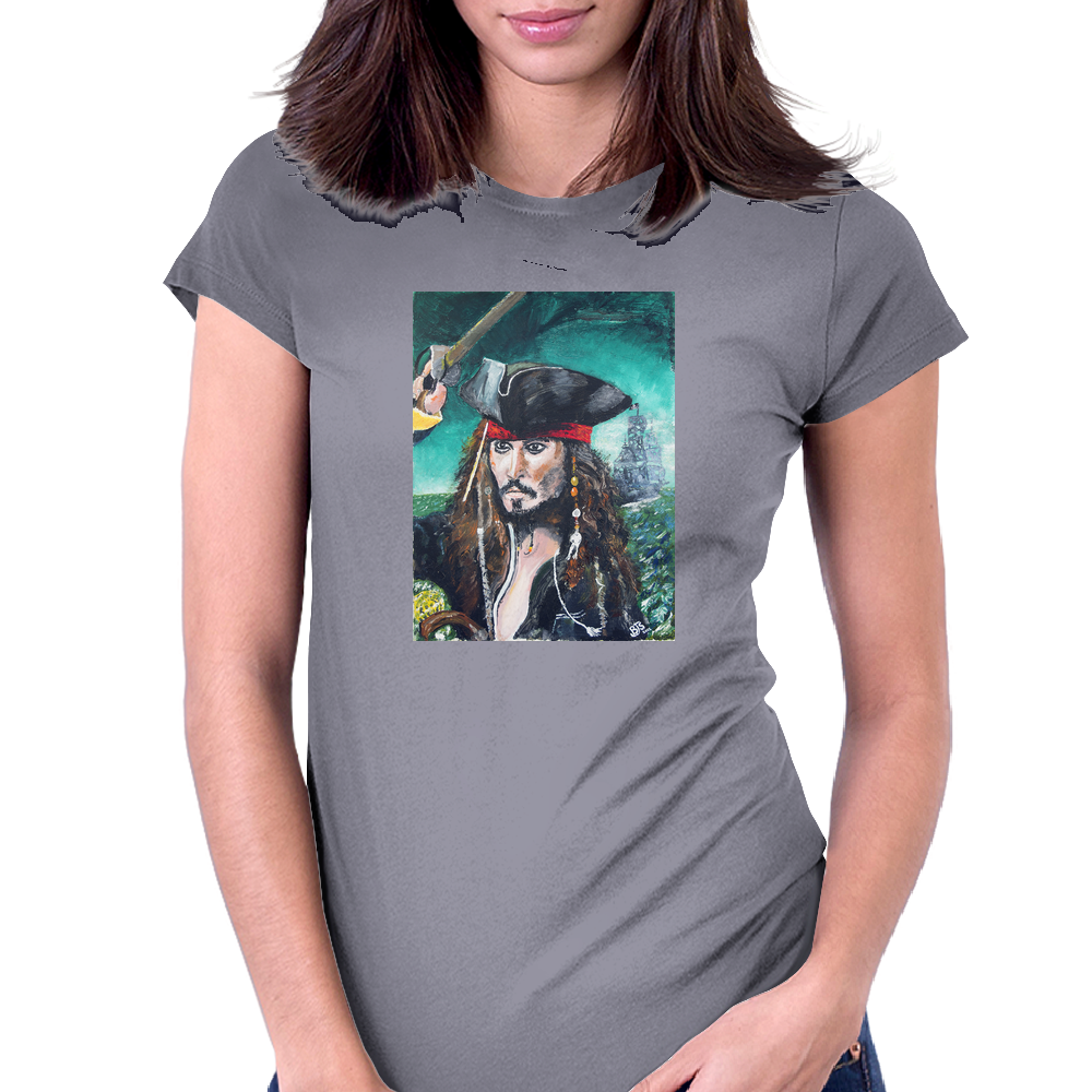 Captain Jack Sparrow Womens Fitted T-Shirt