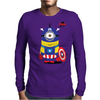 Captain Minion Mens Long Sleeve T-Shirt