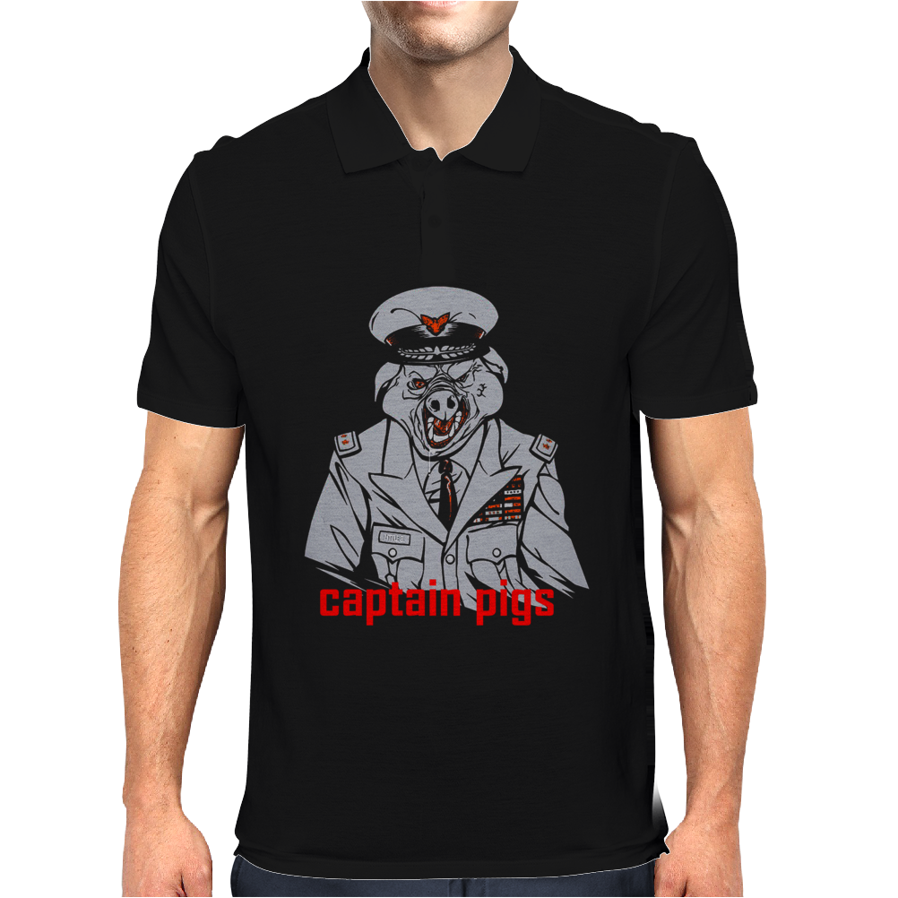 Captain pigs Mens Polo