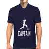 Captain Pinstripes Mens Polo