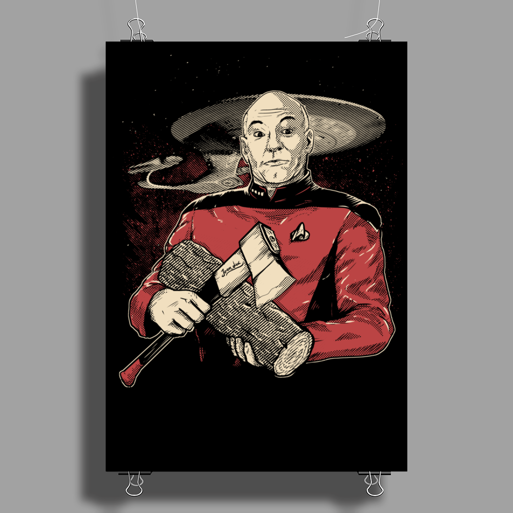Captain's Log Poster Print (Portrait)