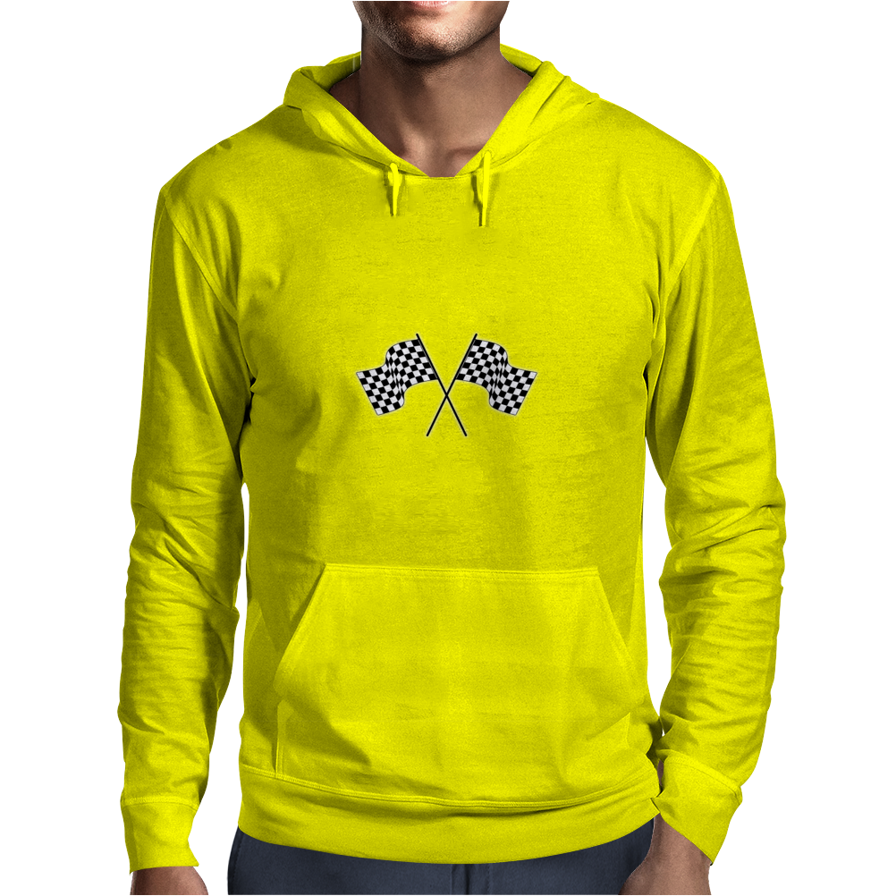 car racing flags Mens Hoodie