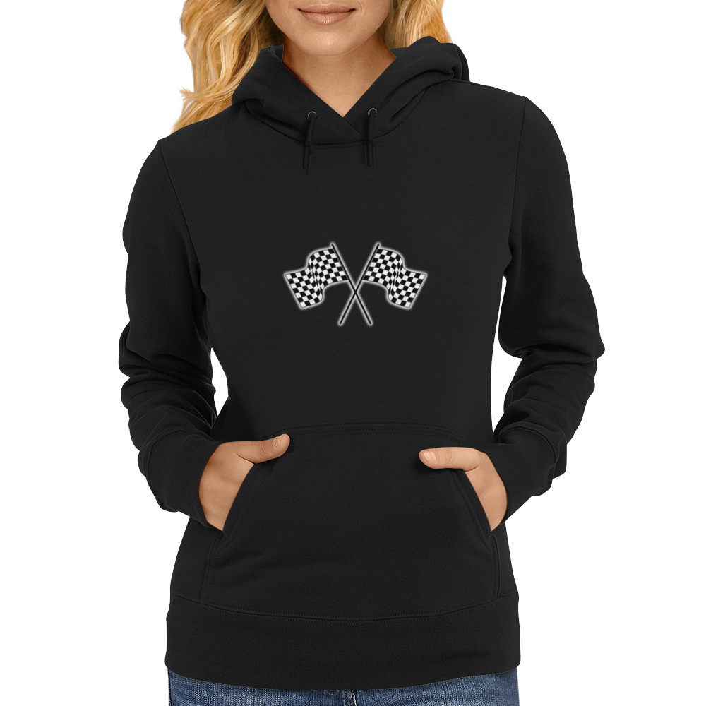 car racing flags Womens Hoodie