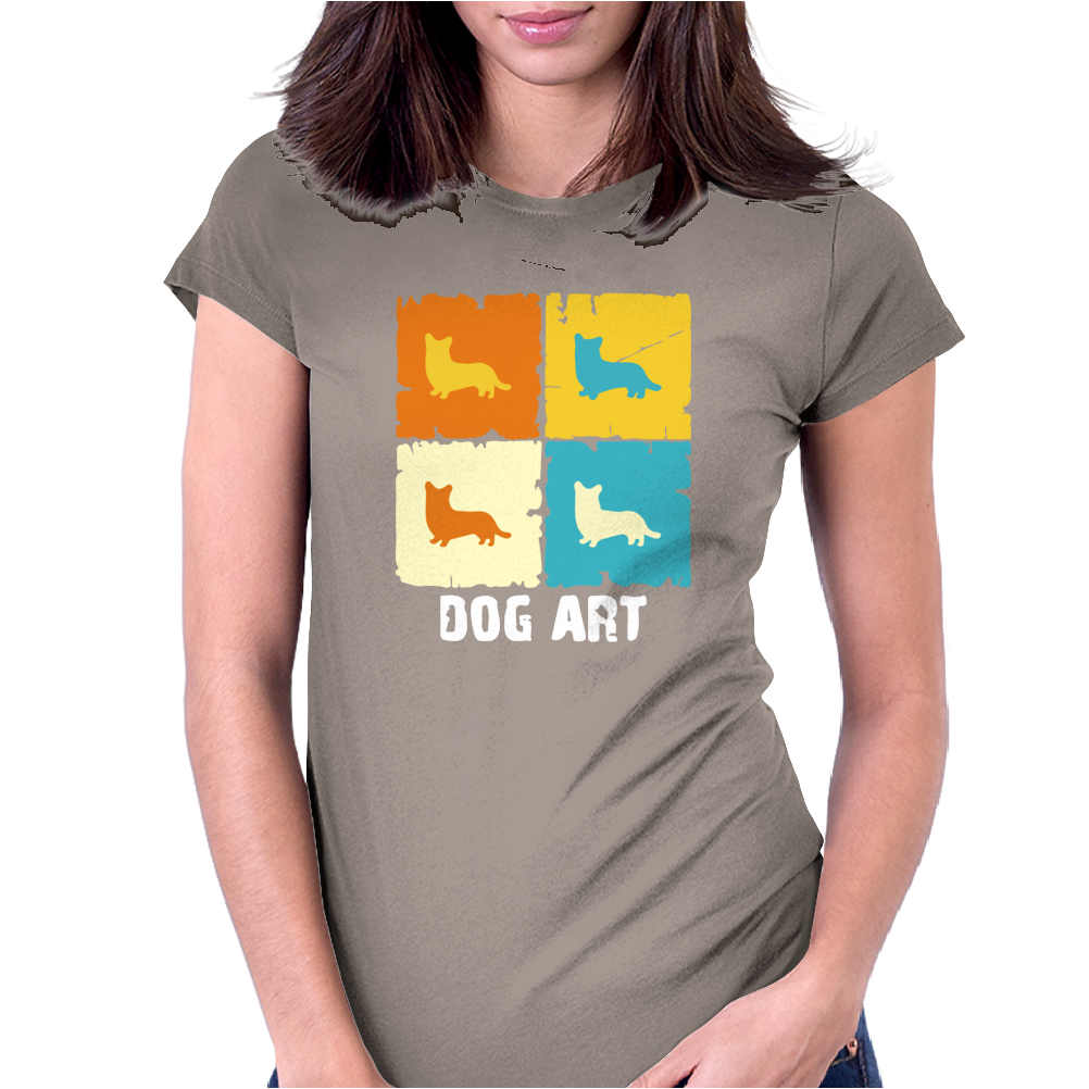 Cardigan Welsh Corgi Dog Art Womens Fitted T-Shirt