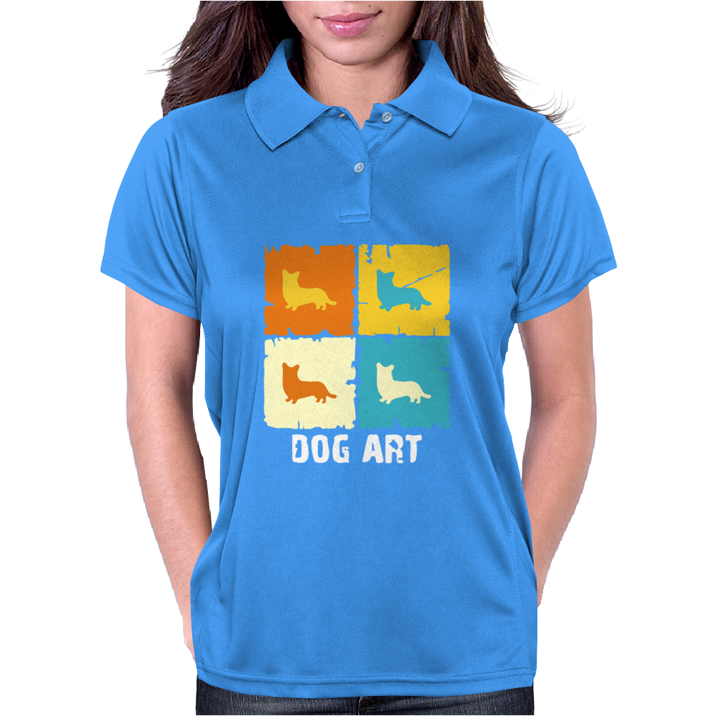 Cardigan Welsh Corgi Dog Art Womens Polo