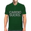 Cardio Sucks - exercise running gym training workout fitness trainer tee Mens Polo