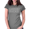 Cardio Sucks - exercise running gym training workout fitness trainer tee Womens Fitted T-Shirt