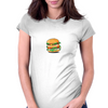 Cartoon Hamburger Womens Fitted T-Shirt