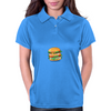 Cartoon Hamburger Womens Polo