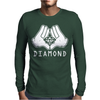 Cartoon Hands Diamond Mens Long Sleeve T-Shirt