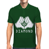 Cartoon Hands Diamond Mens Polo