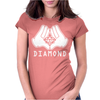 Cartoon Hands Diamond Womens Fitted T-Shirt