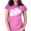 Cartoon Hands HEART Womens Fitted T-Shirt