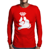 Cartoon Hands HOLDING Diamond Mens Long Sleeve T-Shirt