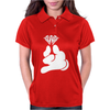Cartoon Hands HOLDING Diamond Womens Polo