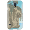 case with a view of a tree motif on rock Phone Case