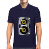 Cassette Tape Vinyl Record DJ Turntable Mens Polo