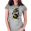 Cassette Tape Vinyl Record DJ Turntable Womens Fitted T-Shirt