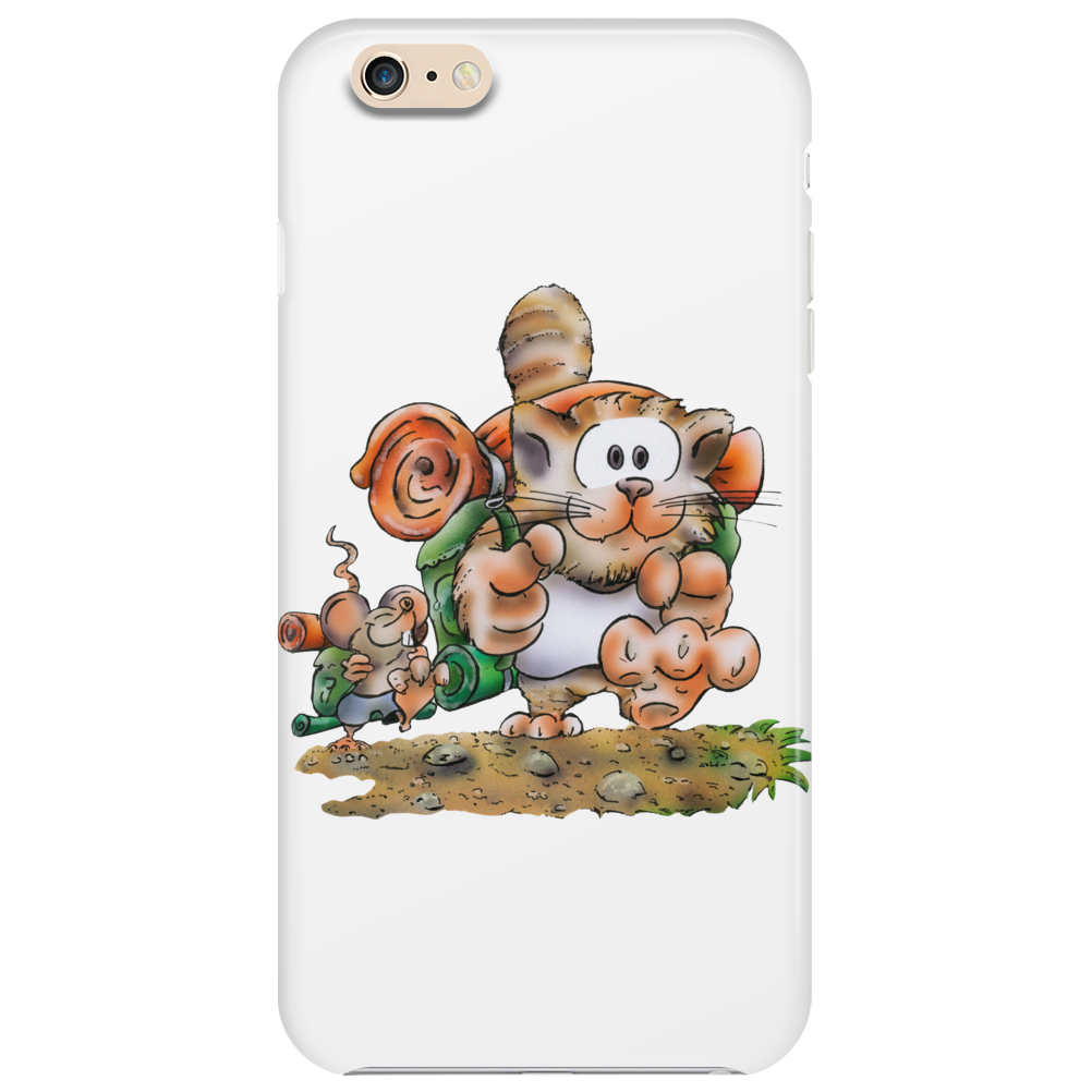 Cat and Mouse on adventure Phone Case