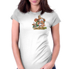 Cat and Mouse on adventure Womens Fitted T-Shirt
