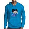 Cat and the Bluebird Mens Hoodie