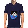 Cat and the Bluebird Mens Polo