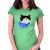 Cat and the Bluebird Womens Fitted T-Shirt