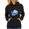 Cat and the Bluebird Womens Hoodie