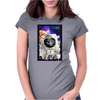 Cat Astronaut Womens Fitted T-Shirt