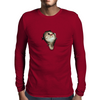 Cat breaking through  Mens Long Sleeve T-Shirt